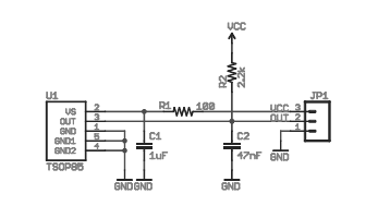 The Schematic of the TSOP38553