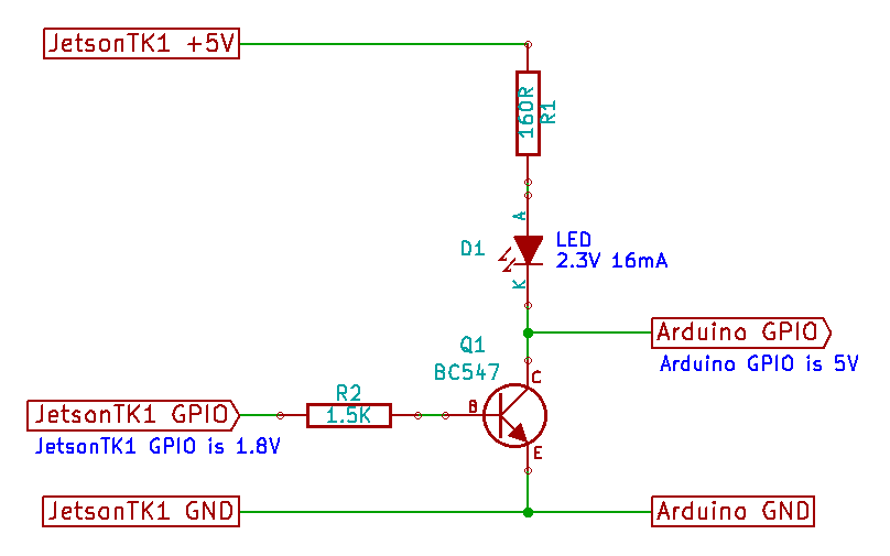 Digital output using a transistor as a switch