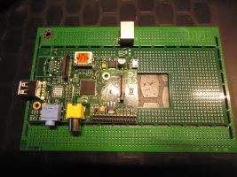 DINpi carrier board with RPi A and USB B socket