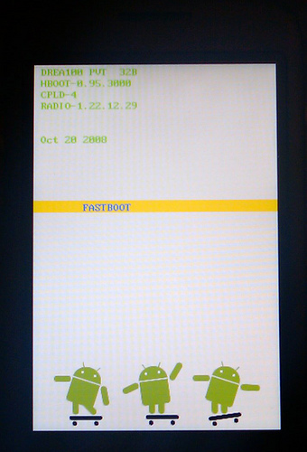 Phone in 'fastboot' mode
