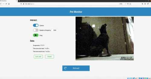 Screen Capture of Pet Monitor Website