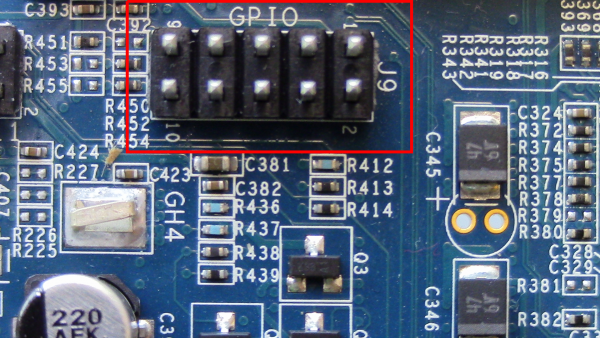 Figure-1: GPIO on the MinnowBoard