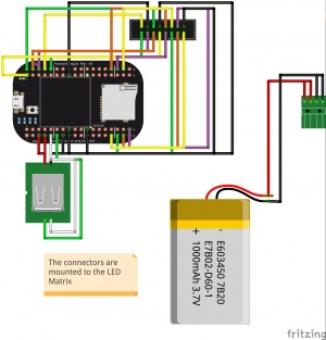 The final schematic for our LED Matrix