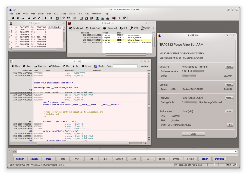 TRACE32 PowerView ARM Linux