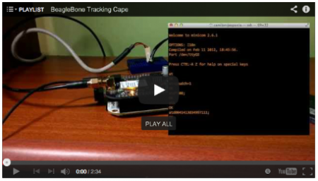 BeagleBone TrackingCape videos