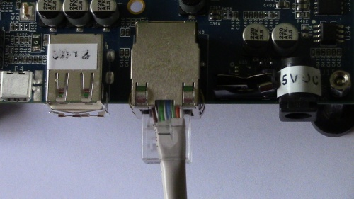 Gigabit Ethernet port on the MinnowBoard