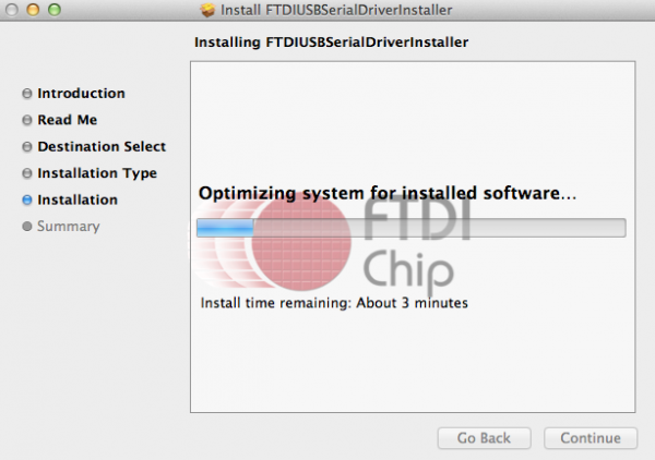 Figure-23: FTDI driver installation in progress