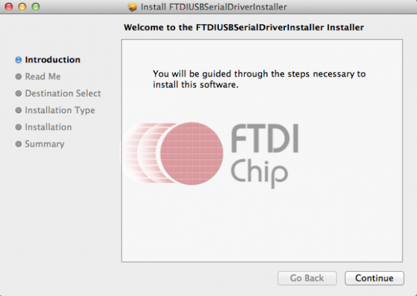Figure-2: FTDI installer screen