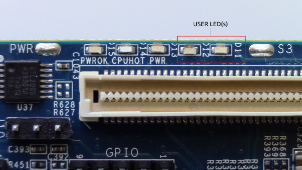 Figure-4: LED(s) on the MinnowBoard